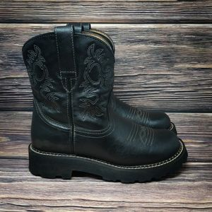Ariat Fatbaby COWBOY Western Black Leather Boots